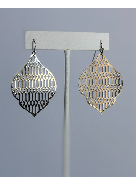 Metallic Lace Earrings