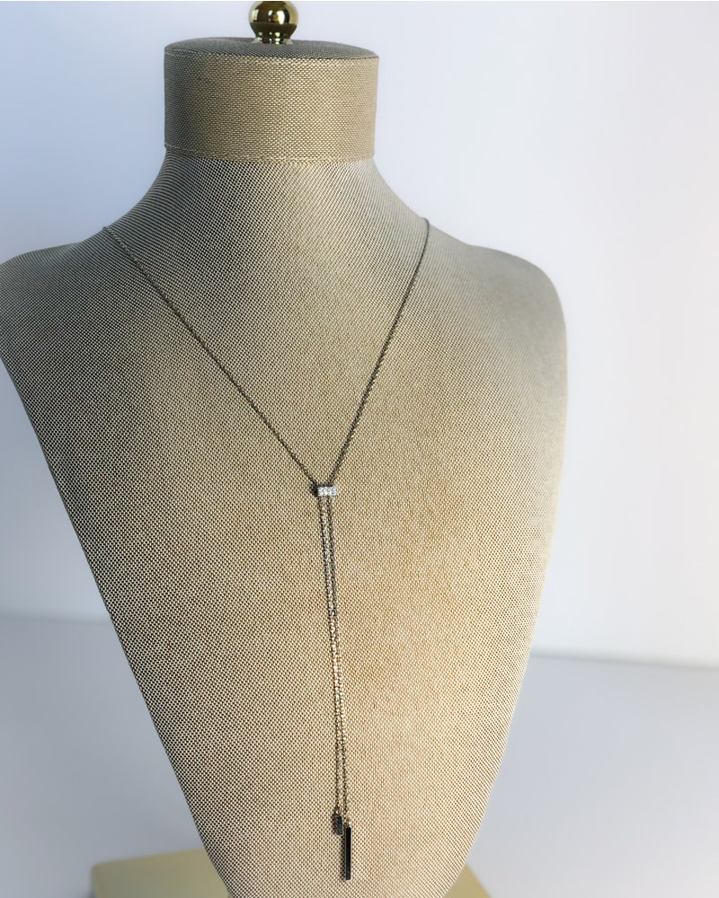 Bars And Stones Necklace