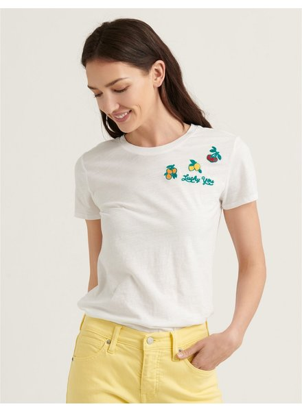 Lucky Brand Embroidered Fruit Tee
