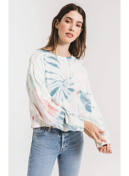 Z Supply Multicolor Tie Dye Pullover