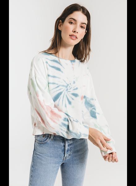 Z Supply Multicolor Tie Dye Pullover