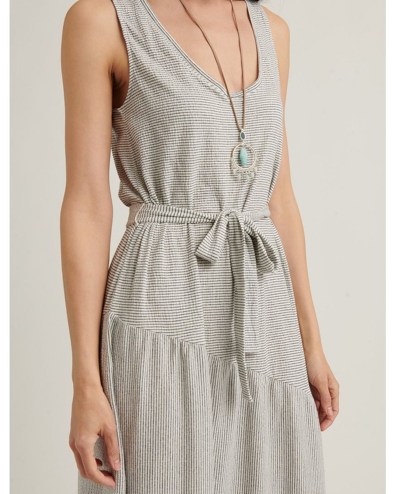 Lucky Brand Eliza Stripe Belted Maxi