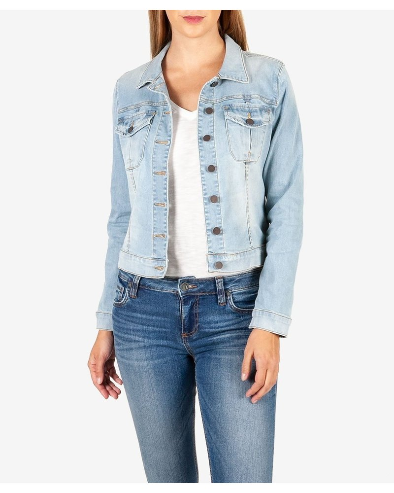 KUT From The Kloth Compensate Amelia Light Denim Jacket
