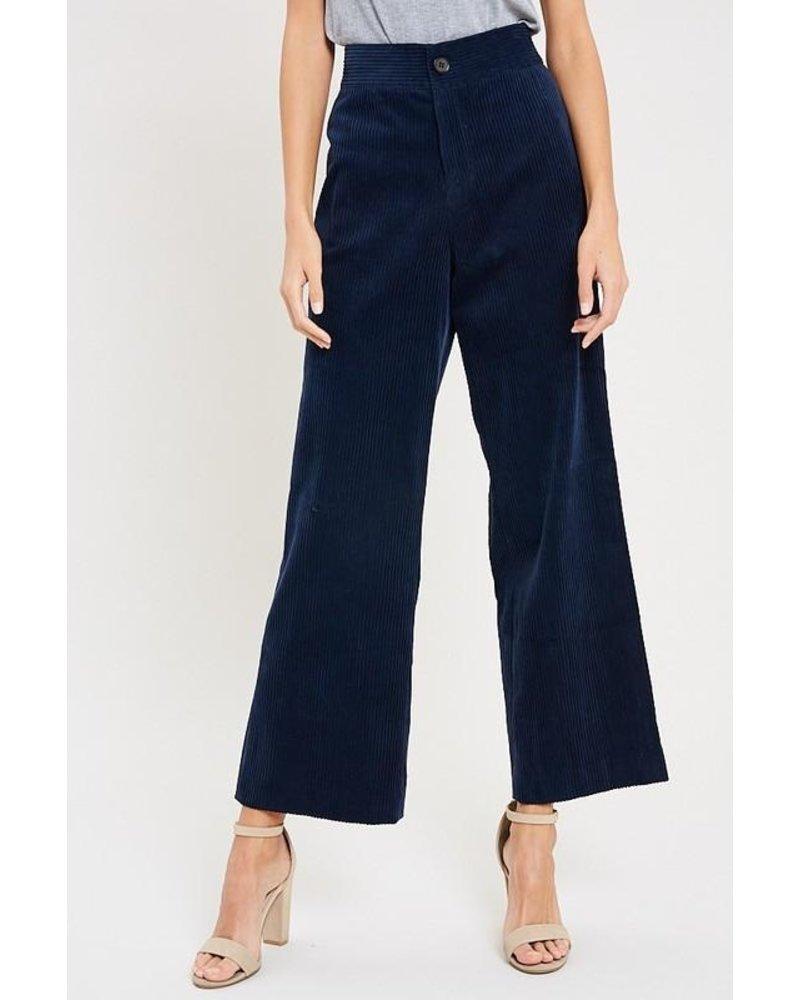 Corduroy Button Front Pants