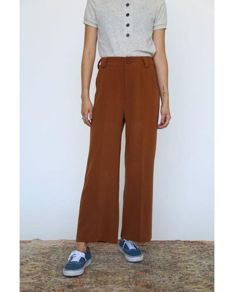 Wide Leg Chestnut Trouser