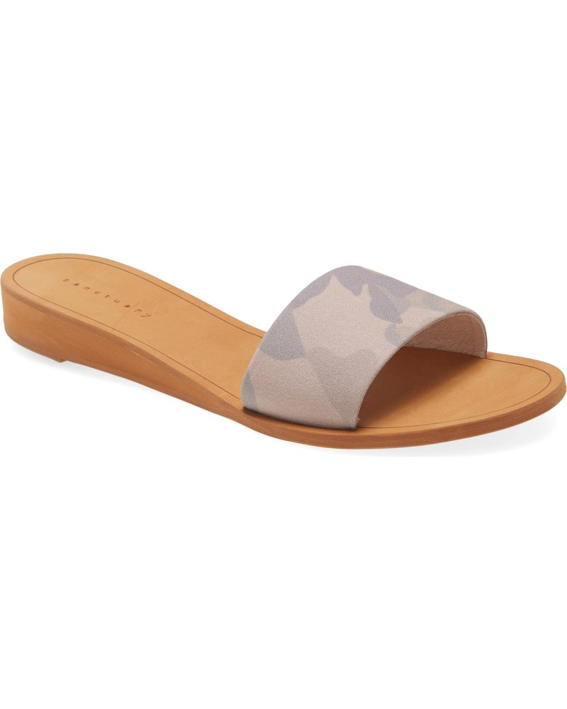 Sanctuary Footwear Rejoice Camo Slide
