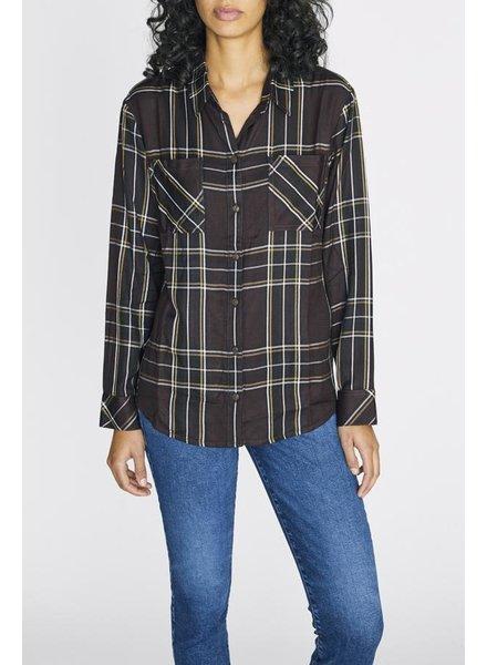 Sanctuary Romantic Plaid Boyfriend Shirt