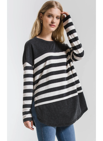Z Supply Modern Stripe L/S Crew Top