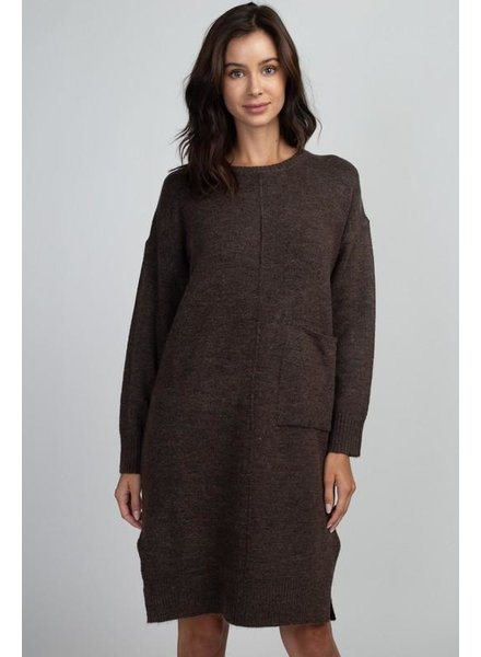 Middle Seam Pocket Sweater Dress