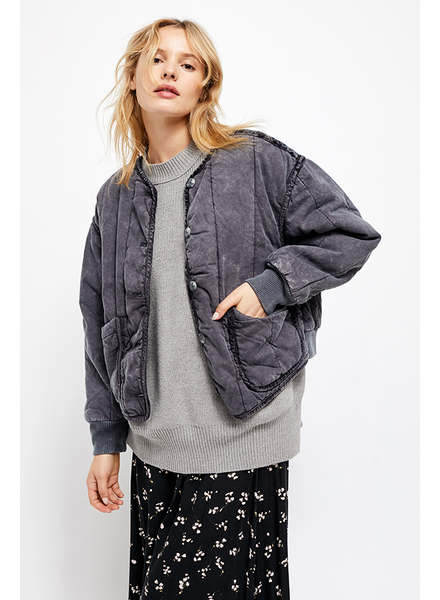 Free People Mixed Signals Liner Jacket