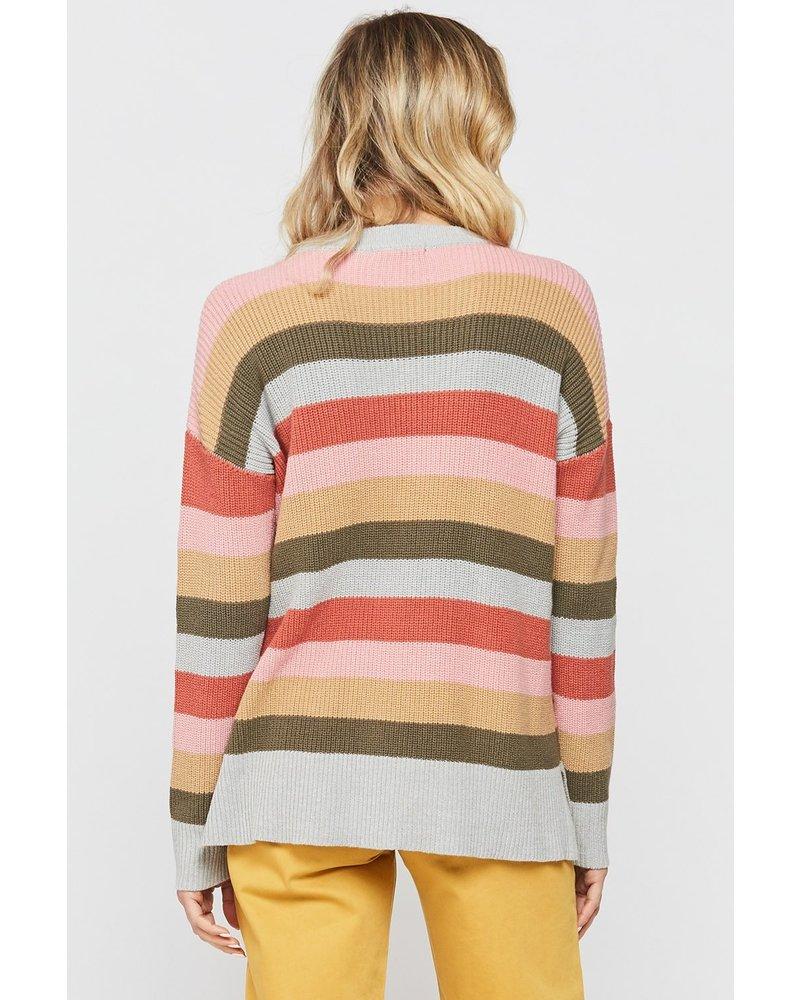 Decline Multi Stripe Sweater