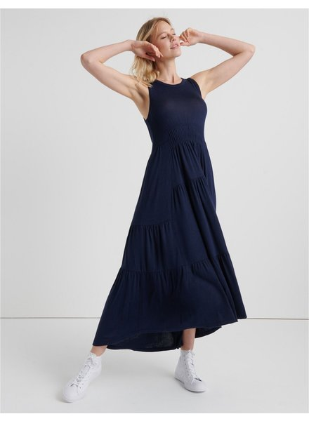 Lucky Brand Ruched Maxi Dress