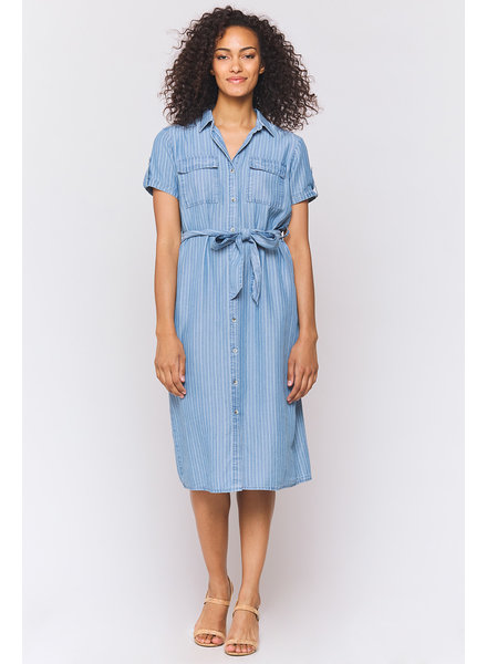 Jem Pinstripe Shirt Dress
