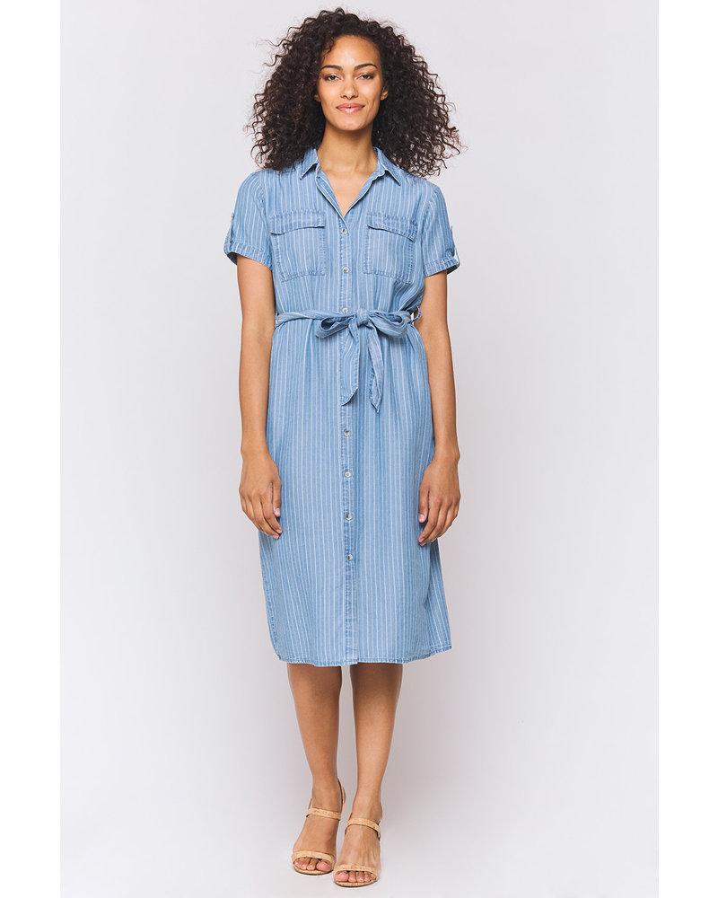 Jem Pinstripe Shirt Dress