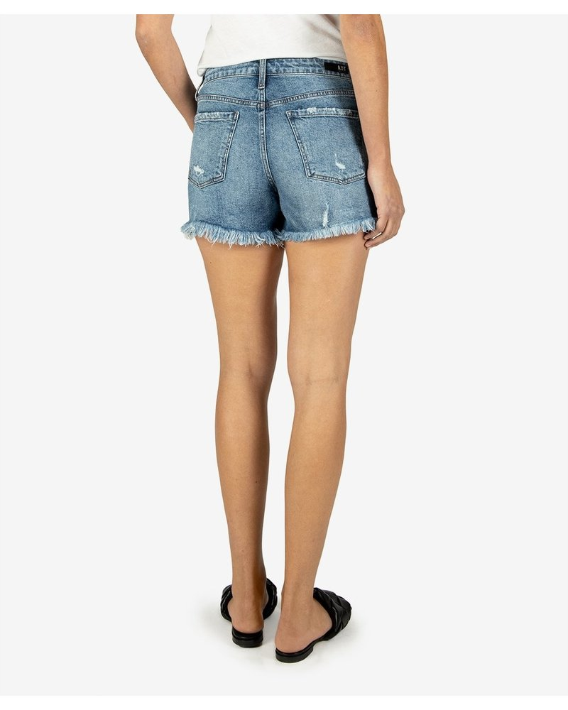 KUT From The Kloth Jane High Rise Raw Short