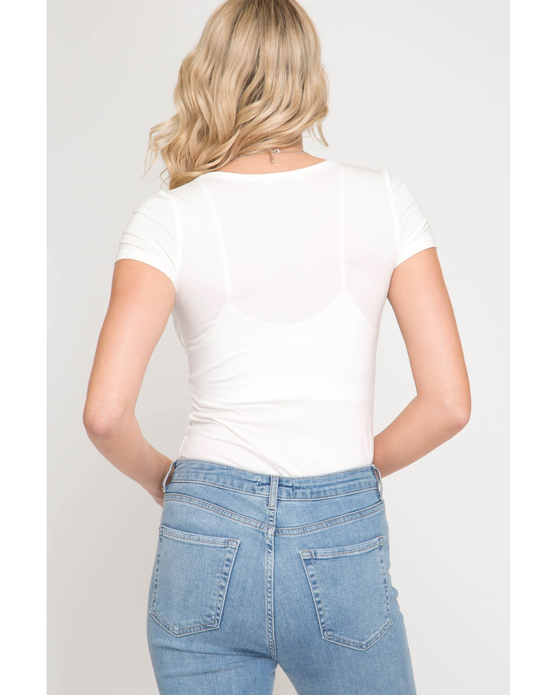 Back To Basics V-Neck Tee