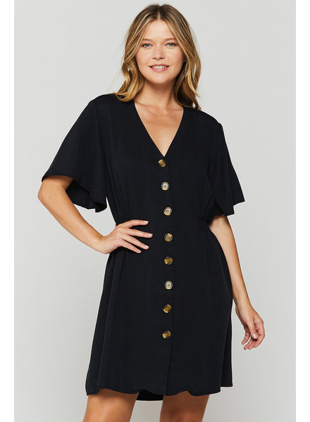 Zevie Flutter Shirt Dress