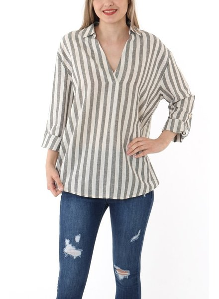 Dinner Date V-Neck Blouse