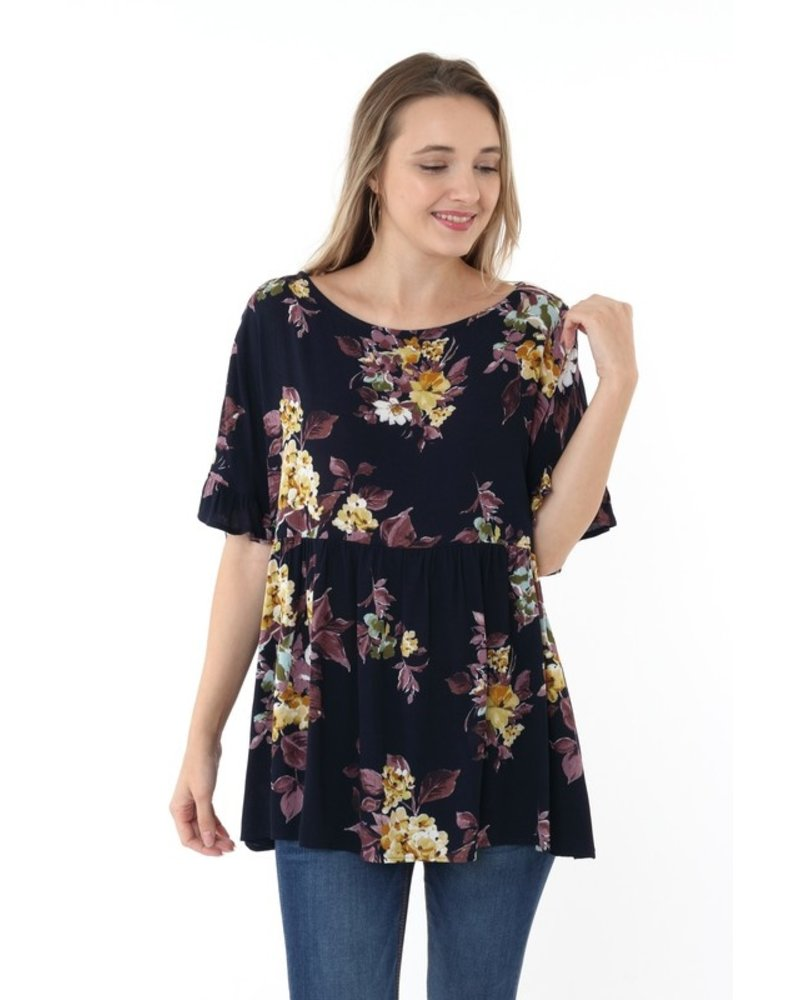 Ruffle Up Floral Top