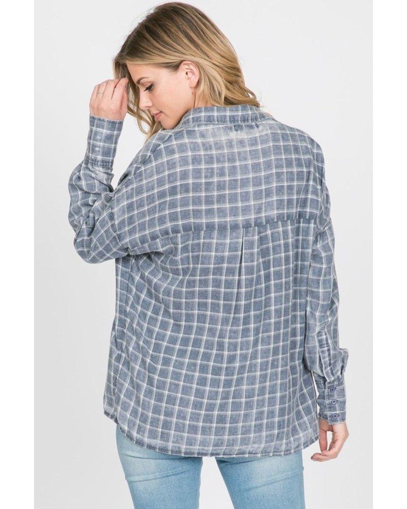 Paper Crane Flannel Fridays Blouse