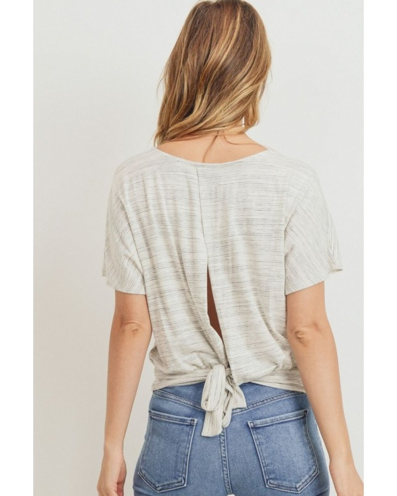 Paper Crane Turn Your Back Knit Top