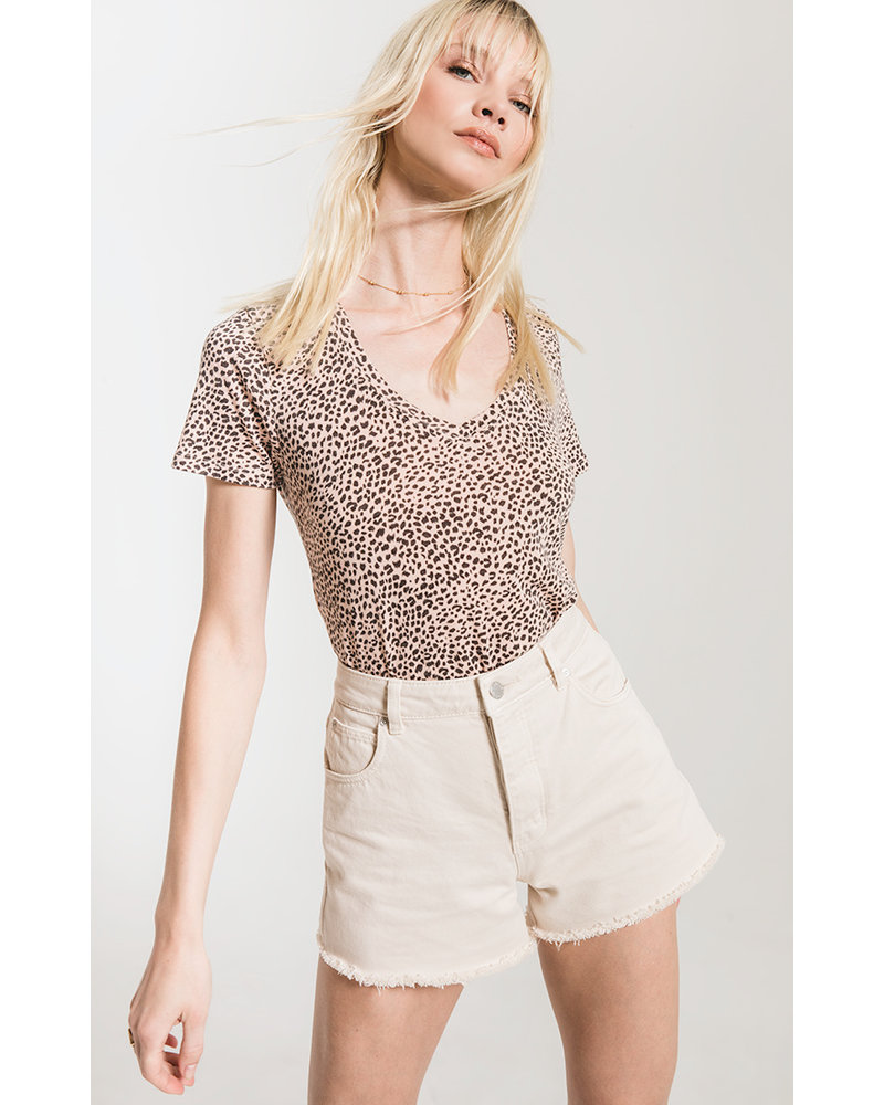 Z Supply The Mini Leopard V-Neck