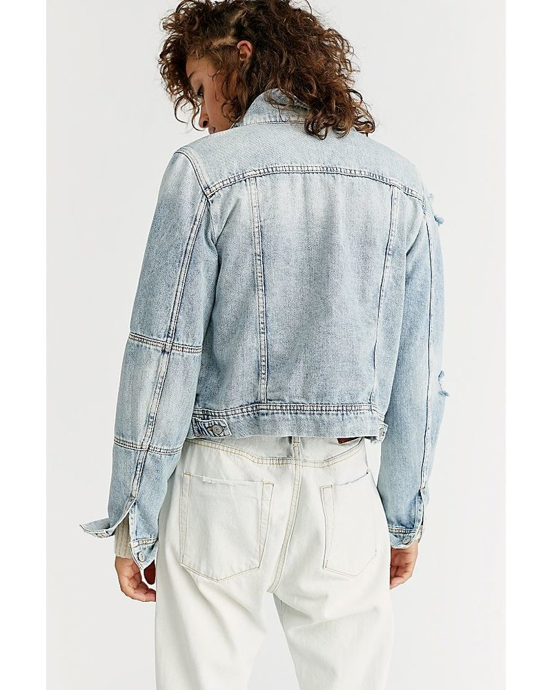 Free People Rumors Jacket Light Indigo
