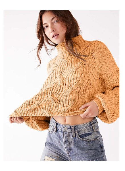 Free People Seasons Change Crop Sweater