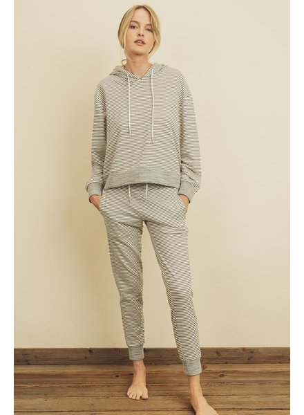 Dress Forum Stripe Hoodie And Sweatpants Set