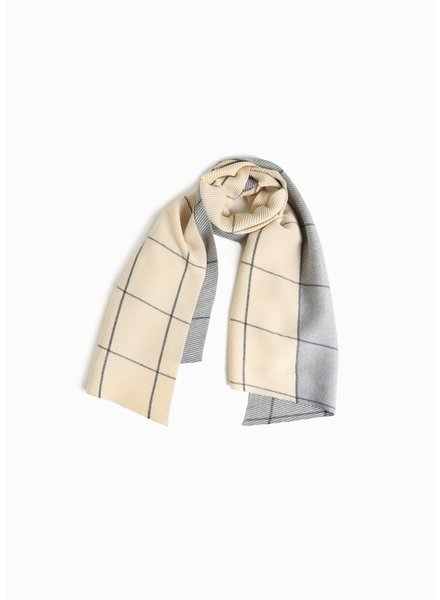 Windowpane Pleated Scarf