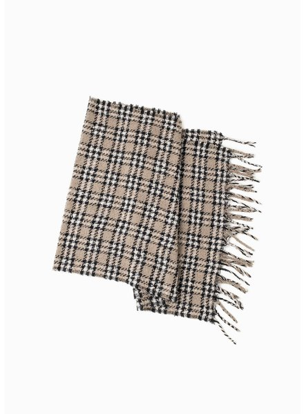 Boucle Houndstooth Scarf