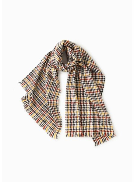 Multi Plaid Houndstooth Scarf