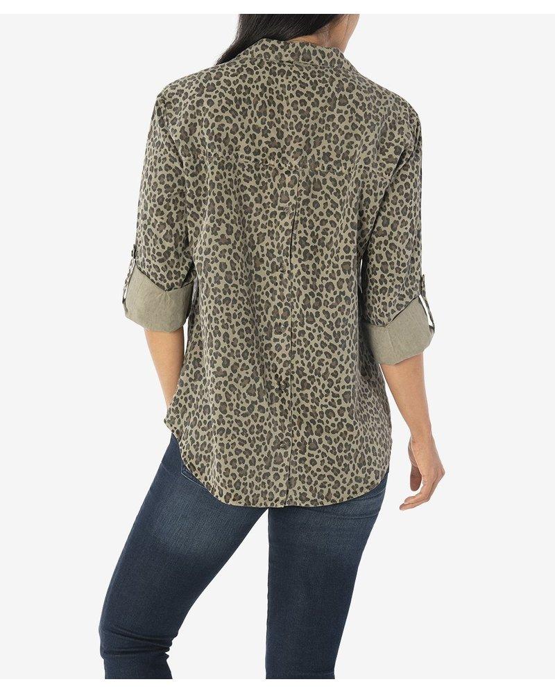 KUT From The Kloth Dakota Cheetah Blouse