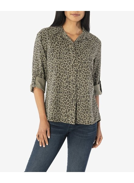 KUT From The Kloth Dakota Cheetah Blouse