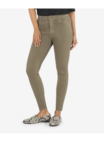 KUT From The Kloth Donna High Rise Ankle Skinny Olive