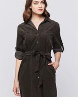 Clover Button Down Shirt Dress