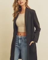 Dress Forum Scuba Open Front Coat