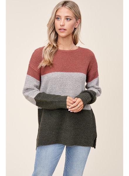 Leaf Pile Waffle Sweater