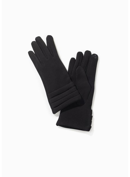 Pleated Trim Gloves