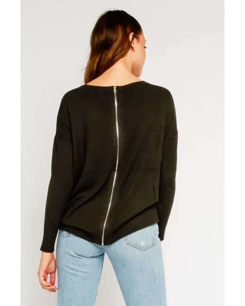 Olivaceous Zip It Long Sleeve