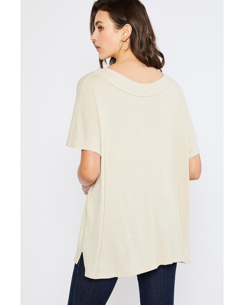 Mittoshop Veronica V-Neck Waffle Top