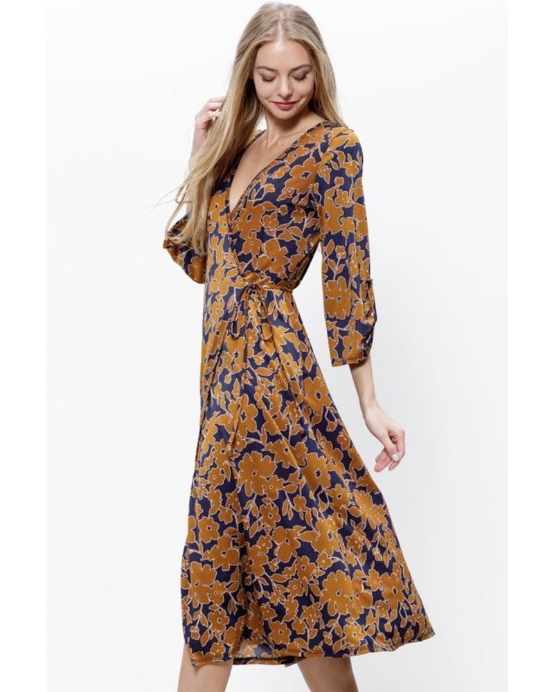 Mittoshop Flowers of Fall Wrap Dress
