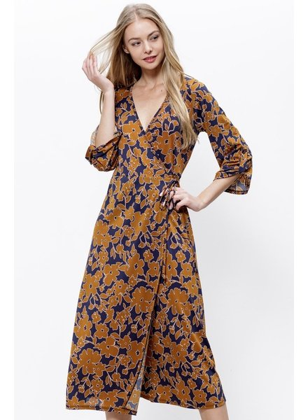 Mittoshop Flowers of Fall Wrap Dress