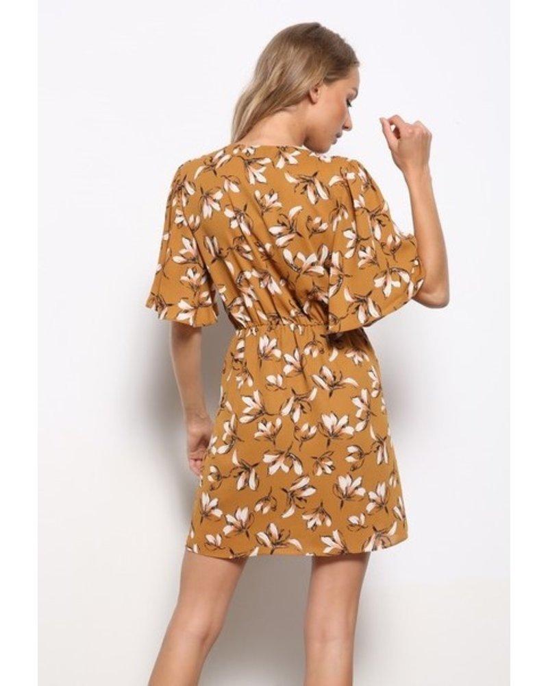 Mittoshop Never Settle Surplice Dress