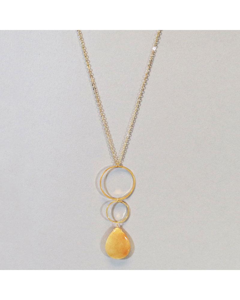 Citrine Teardrop Necklace