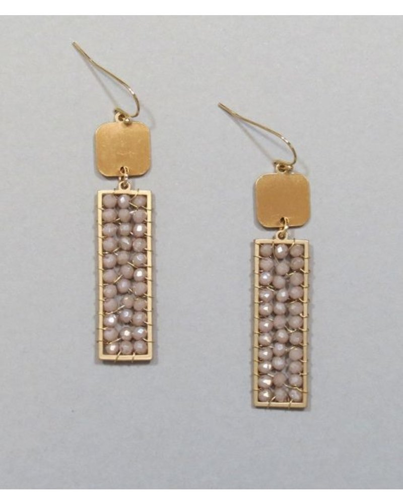 Crystal Beaded Dangle Earrings