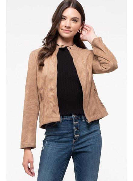 Sidney Suede Moto Jacket