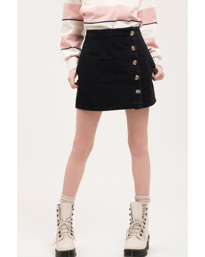 Bonfire Button Front Skirt