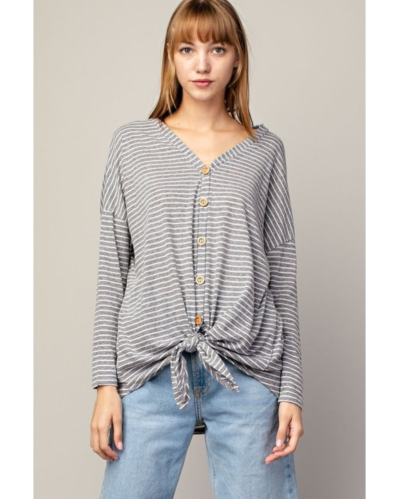 Mittoshop Work It Out Tie Front Top