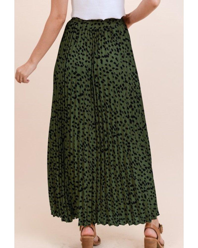 Jodifl Pleated Polka Dot Skirt
